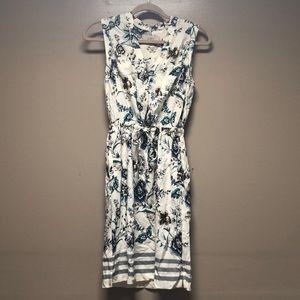 LOFT floral shirt dress